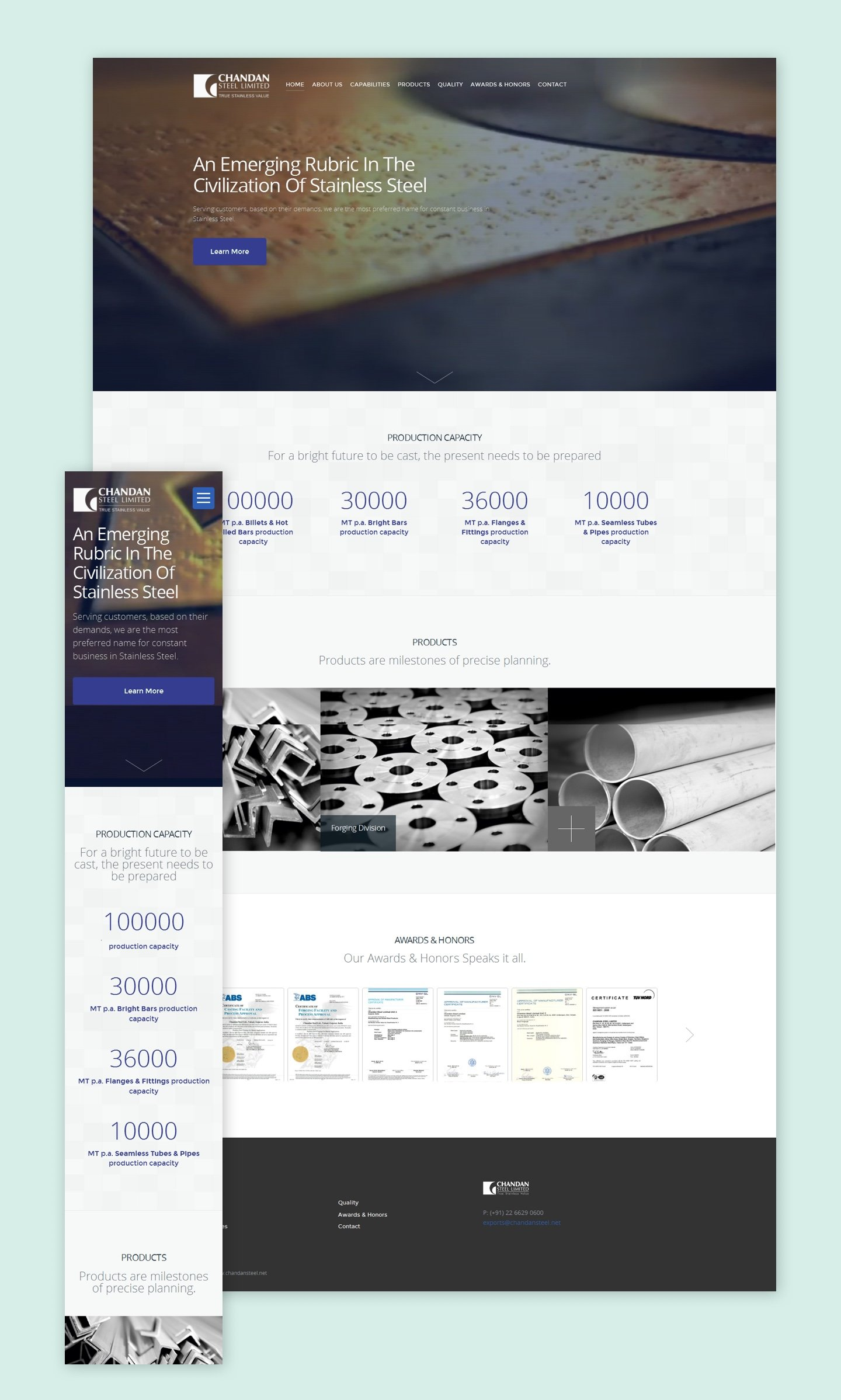 Chandan Steels Website Re-design